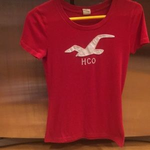 Women's small red Hollister tee great used cond